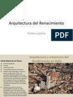 Arquitectura y Urbanismo Del Renacimiento - 1