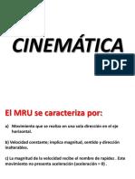 ejercicios cinematica