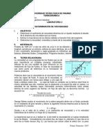 Guia de Laboratorio de un Viscosimetro