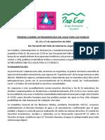 Primera Cumbre Latinoamericana Del Agua Para Los Pueblos (2)