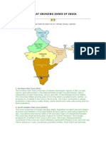 Wheat Growing Zones of India