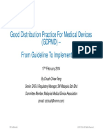 Good Distribution Practice for Medical Device108201532845PM1