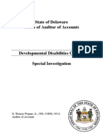 Developmental Disabilities Council Special Investigation