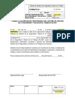 FT-SST-002 Formato Asignación Responsable Del SG-SST
