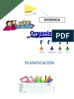 DIFERENCIAS ENTRE ORGANIZACION Y PLANIFICACION