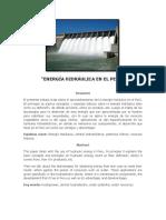 PAPER ENERGIA HIDRAULICA