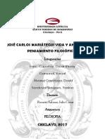 José Carlos Mariátegui Vida y Análisis de Su Pensamiento Filosófico -Nuevo