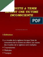 2-CONDUITE A TENIR DEVANT UNE VICTIME INCONSCIENTE.ppsx