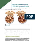 Cómo Preparar Un Remedio Rico en Calcio Para Prevenir La Osteoporosis