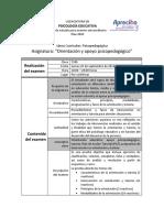 6° 2014 Orientación y Apoyo Psicopedagogico