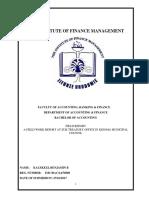 Ifm field Report