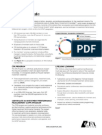 Cfa Institute Factsheet