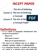 The Concept Paper
