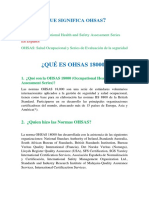 Qué Es Ohsas 18001