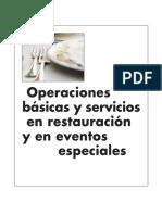 Operaciones Basicas y Servicios en Restauración