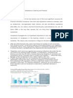 What is the function of compliance in Banking and Finance.docx