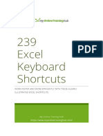 239 Excel Shortcuts for Windows - MyOnlineTrainingHub