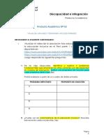 Producto Académico N° 02 -discapacidad e integración