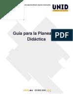 Guía Planeación Didáctica UNID