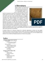 Historia de la literatura - Wikipedia, la enciclopedia libre.pdf