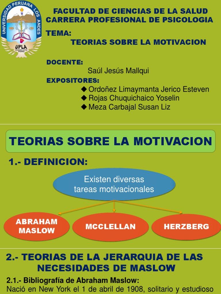 Teorias De La Motivacion2 Motivación Autosuperación