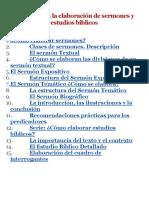 Manual Para La Elaboracion de Sermones y Estudios Biblicos