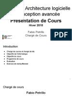 LOG8430-2018.1 - Winter - Plan de Cours