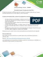 Anexo 3 Fase 6 Evaluación Final POA