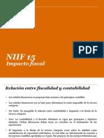 NIIF 15%2c Impacto Fiscal