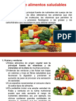 Tipos de Alimentos Saludables e Industriales