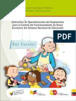 Instructivo Bares del ministerio de educación ECUADOR