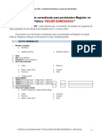 Formato Curriculum Normalizado