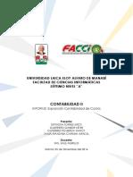 Contabilidad de Costos, Informe 1-Contabilidad II