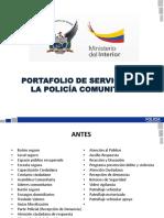 Portafolio de Servicio Policía Comunitaria