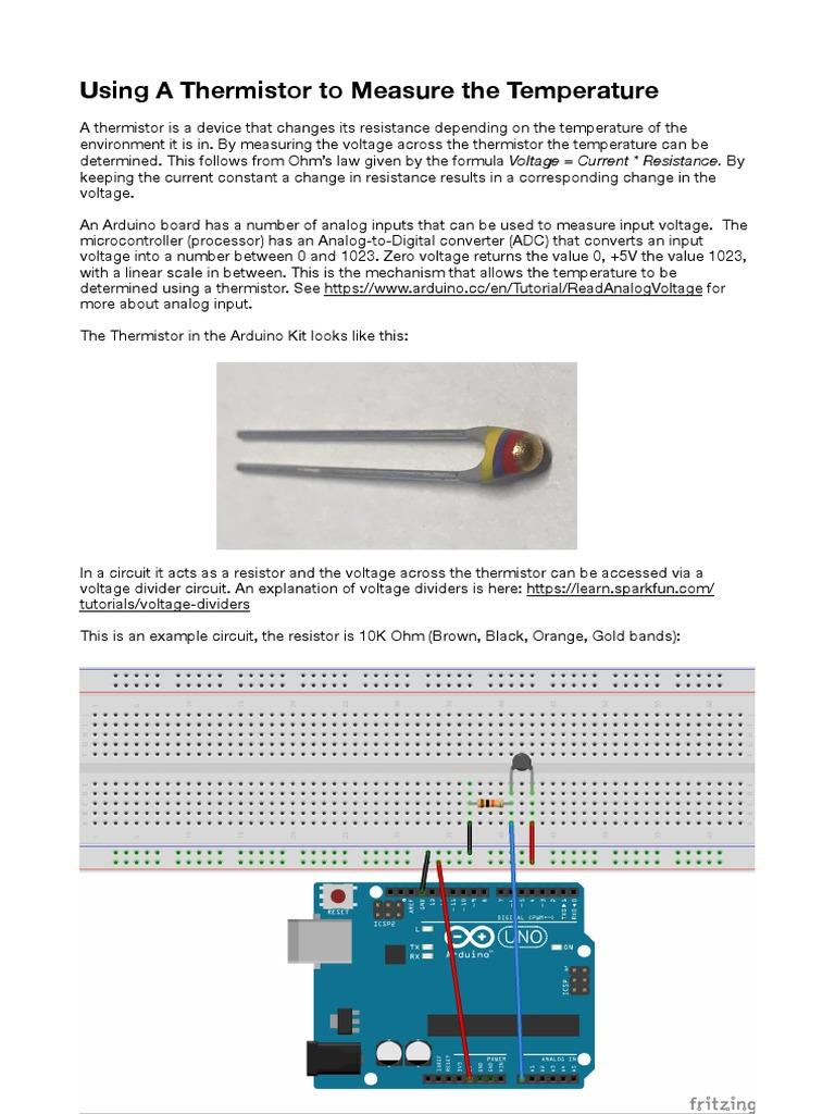 Thermistor Temperature Analog To Digital Converter Voltage Divider Circuit Dividers