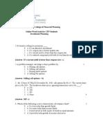 Mock Test-Investment Planning