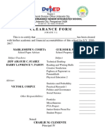 Clearance Form - Grade 11