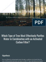 making a water filter out of trees
