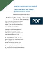 Shakespeare Sonnet Generator