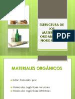 Estructura de Los Materiales Organicos Eh Inorganicos