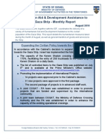 August 10' Gaza Strip Civilian and Humanitarian Aid Monthly Report
