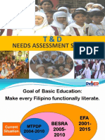 Training Development Needs Assessment System
