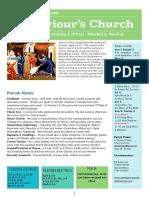 st saviours newsletter - 1 july 2018