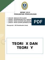 Teori x Dan Teori y Slide
