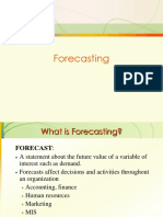 Forecasting PPT Notes