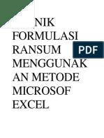 TEKNIK FORMULASI RANSUM MENGGUNAKAN METODE MICROSOF EXCEL.docx
