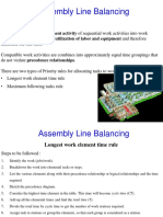 Chapter 8 - Assembly Line Balancing