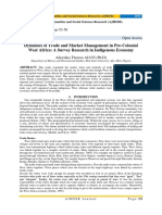 Dynamics of Trade and Market Management In Pre-Colonial West Africa