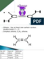 organic chemistry - alkene - UOS