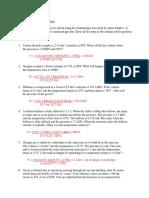 Worksheet Gases III Answers 1